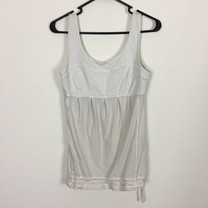 Lululemon White and Off White Tank Top